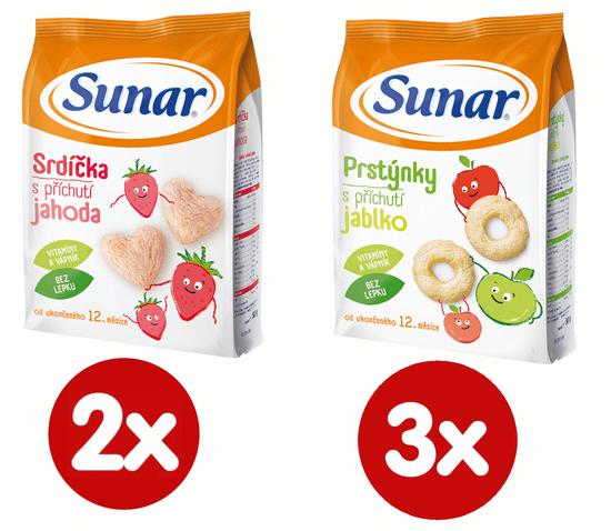 Sunar Dětský snack mix karton L 5x50g