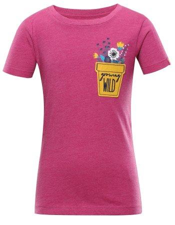 ALPINE PRO Koszulka dziewczęca Garo 3 92 - 98 różowa