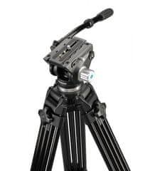 Cullmann Terra 460 video stativ, z glavo in ploščico, črn
