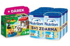 Nutrilon 5 Vanilla - dětské mléko 6x 800g, 36+