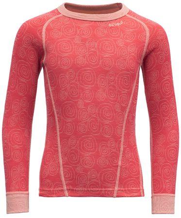 Devold majica za djevojčice Duo Active Kid Shirt, 128, crvena