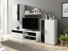 Nejlevnější nábytek Obývací stěna NEJBY v barvě bílá/černá