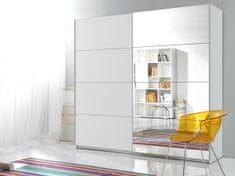 Šatní skříň se zrcadlem MAGGIE 180, bílá