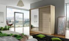 Nejlevnější nábytek Šatní skříň GAMBA VI, dub sonoma/zrcadlo