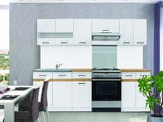 Nejlevnější nábytek Kuchyně JAMISON 180/240 cm, korpus bílý/dvířka bílý lesk