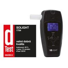 Solight alkohol tester profi, 0,0 - 3,0‰ BAC, citlivost 0,1‰, barevný displej, automatické čištění, 1T04