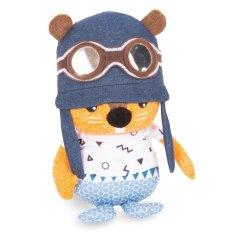 toTs Plyšová hračka so sadou samolepiek s písmenami, Veverička