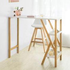 SoBuy FWT56-W barový stůl vysoký stůl barový pult kuchyňský pult bambus