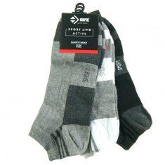 Moraj Pánské ponožky 3pcs CSM170-100 černošedobílá - Moraj