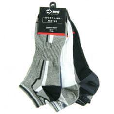 Moraj Pánské ponožky 3pcs CSM170-102 černošedobílá - Moraj