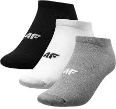 4F Dámské ponožky 4F SOD302A šedé, bílé,černé