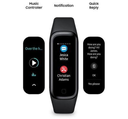 Fitness náramek Samsung Galaxy Fit2, oznámení, praktické