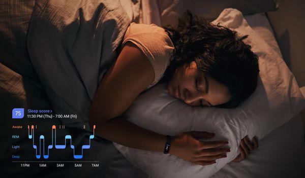 Fitness náramek Samsung Galaxy Fit2 spánek Samsung Health
