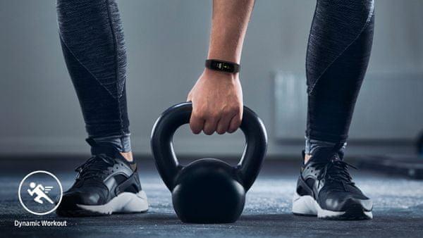 Fitness náramek Samsung Galaxy Fit2, sledování tepové frekvence, Samsung Health, 5 druhů pohybu