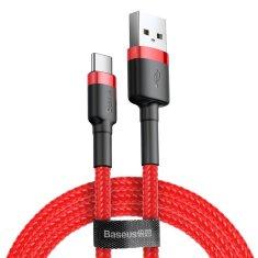 BASEUS Cafule kabel USB / USB-C QC3.0 2A 3m, červený