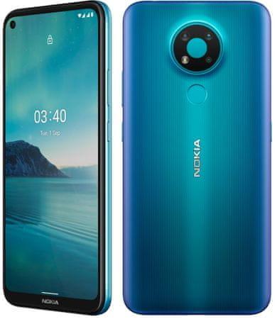 Nokia 3.4 mobilni telefon, 3 GB/64 GB, Moder - Odprta embalaža