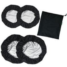 Babyrenka Babyrenka návleky na kola Kombi 2+2 s taškou black