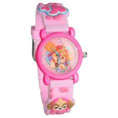 """Vadobag Detské analógové hodinky """"Paw Patrol 3D"""" - ružová"""