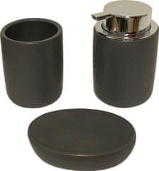 Koopman Koupelnová keramická 3 dílná šedá sada