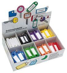 WEDO Visačky, menovky na kľúče, s háčikom, 8 farieb, 200ks