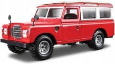 BBurago 1:24 Land Rover model auto, srebrna