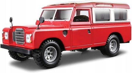 BBurago 1:24 Land Rover piros
