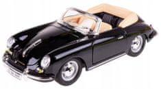 BBurago 1:24 Porsche 356B 1961 Cabriolet model auta, crna