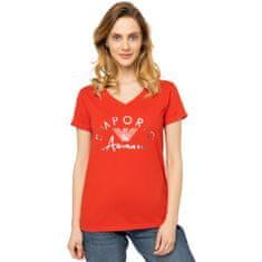 Emporio Armani Dámské tričko 164334 0P291 00074 červená - Emporio Armani