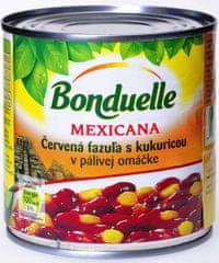 BONDUELLE červená fazuľa s kukuricou v pálivej om 430g (bal. 12ks)
