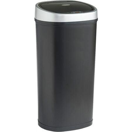 VonHaus kanta za otpad s automatskim otvaranjem, 50 l, metalik crna