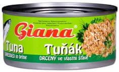 Giana  tuniak vo vlastnej šťave drvený 185g (bal. 48ks)