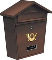 Vorel Poštovní schránka 380 x 320 x 105mm hnědá TO-78582 VOREL