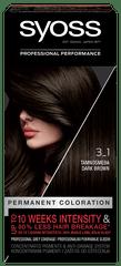 Syoss Baseline Color boja za kosu, 3-1 tamno smeđa