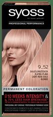 Syoss Baseline Color barva za lase, 9-52 Light Rose Gold Blonde