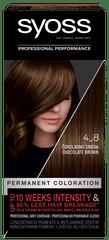 Syoss Baseline Color barva za lase, 4-8 čokoladno rjava