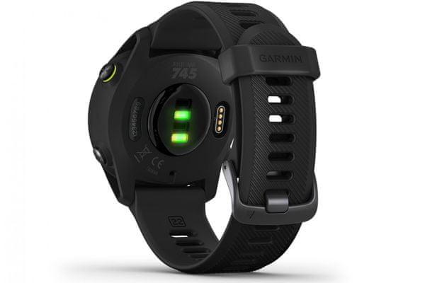 moderné chytré hodinky garmin 745 gps Bluetooth odolné do hĺbky 50 m vstavaný mp3 bezkontaktné platby garmin pay batéria s výdržou 7 dní veľa športových profilov denné návrhy tréningu na mieru čas na zotavenie race predictor merania srdcového rytmu krokomer gps glonass galileo wifi ant plus body battery energy monitor smart notifikácia detekcia pádov