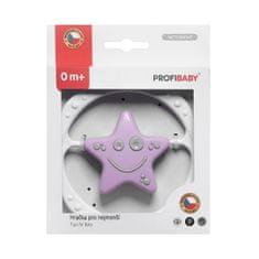 Profibaby Kruh- hvězdička v krabičce, růžovo-šedý