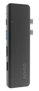 EPICO koncentrator USB 2× HDMI MST Hub 9915111900056, szary