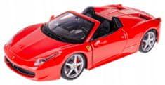 BBurago model Ferrari 458 Spider 1:24, crveni