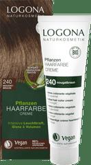 LOGONA Krémová farba na vlasy - Nugátovohnedá - 150ml