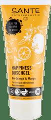 SANTE Naturkosmetik HAPPINESS sprchový gél BIO pomaranč a mango - 200ml