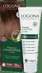 LOGONA Krémová farba na vlasy gaštanovohnedá - 150ml