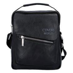 Coveri WORLD Menší koženková univerzální taška Coveri Discovery, černá