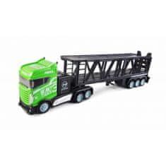 Amewi Trade Kamion s autopřepravníkem 2WD, 1:16, bohaté příslušenství, semafor, radar, 3 autíčka, RTR