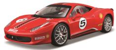 BBurago model Ferrari Racing 458 Challenge, 1:24, crvena