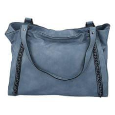 Paolo Bags Praktická dámska koženková kabelka Sarah Zoe, modrá