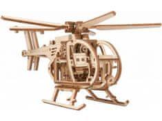 Wooden city Vrtuľník 3D mechanické puzzle