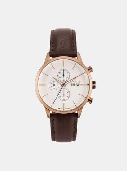 Gant pánské hodinky s hnědým koženým páskem