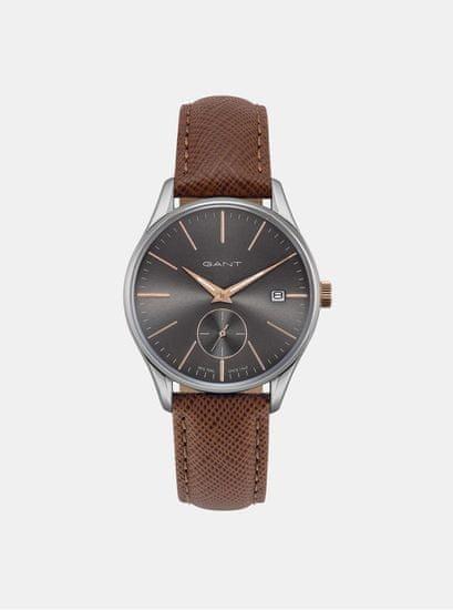 Gant dámské hodinky s hnědým koženým páskem