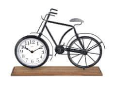 MAT hodiny stolní KOLO 42x7,5x28,5cm dřevo/kov ČER